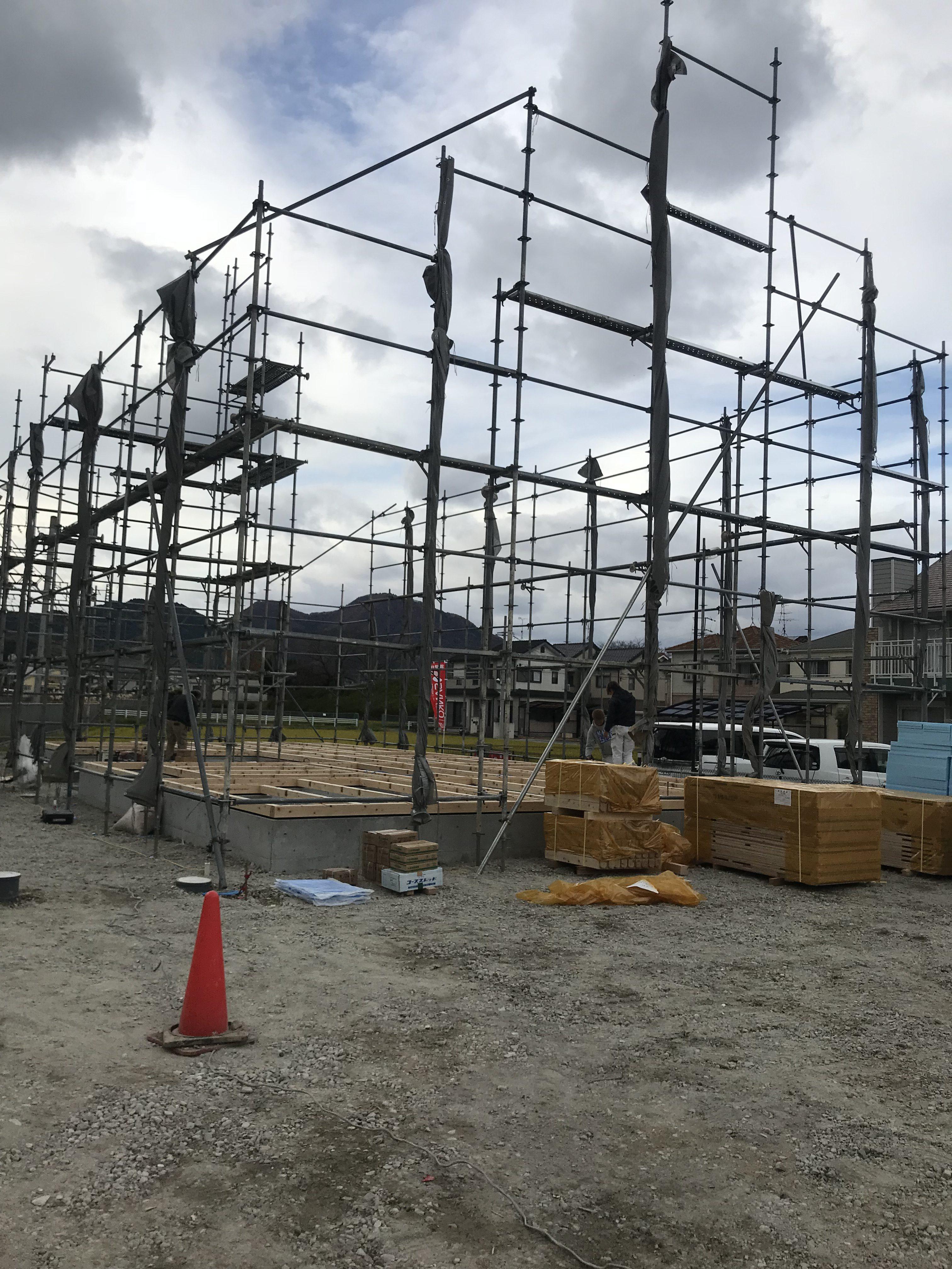 奈良県葛城市O様邸の棟上げ工事がございましたver1(=^^=)